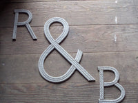 8 Inch Rope Letter / Number MADE TO ORDER