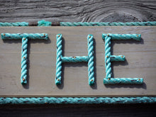 4 Inch Rope Letter / Number MADE TO ORDER - Alaska Rug Company