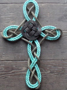 Woven Knotted Cross -Recycled Rope - Alaska Rug Company