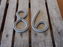 Rope Numbers Handmade with Recycled Fishing Line