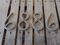 6 Inch Rope Letter / Numbers MADE TO ORDER
