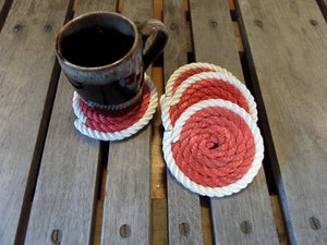 Set of 4 Coasters 2 color (Choose Color) - Alaska Rug Company
