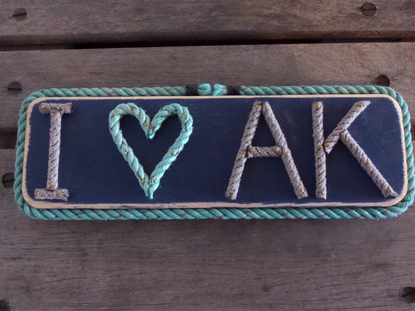 I heart AK  sign