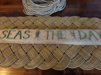 SEAS THE DAY Cleat Rack on Driftwood