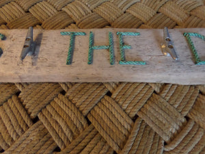 SEAS THE DAY Cleat Rack on Driftwood - Alaska Rug Company