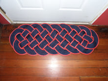 "Navy with Red Accent 38"" x 15"" - Alaska Rug Company"