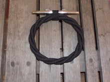 Navy Rope Towel Ring Holder Rack - Alaska Rug Company