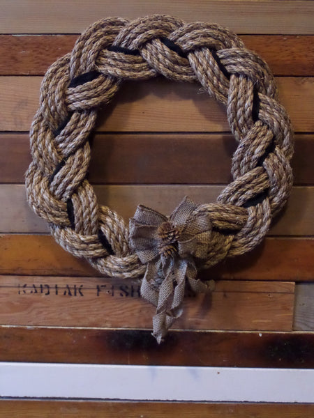 Rope Wreath - Manila Natural 16""