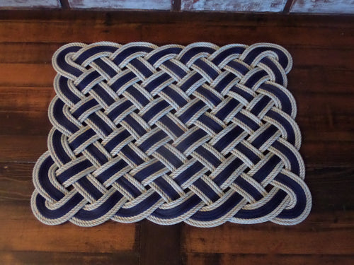 Rope Rug Navy and Choose Accent Color 24