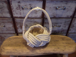 Wedding Flower Girl Basket Nautical Beach Theme