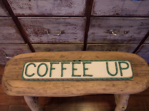 COFFEE UP sign