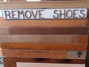Remove Shoes Sign