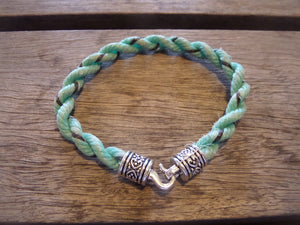 Green with Black Specks Nautical Bracelet