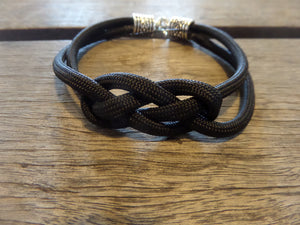 black nautical knotted bracelet