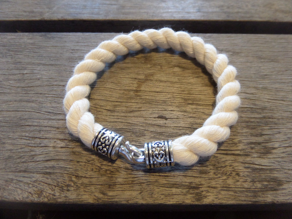 off white cotton nautical bracelet