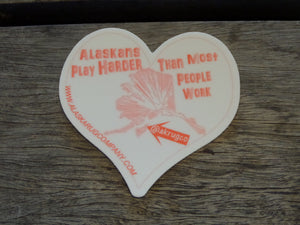 Alaskan Play Harder Sticker