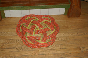 Orange & Yellow Crab Mat 24""
