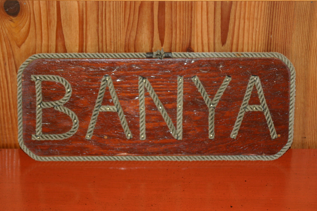 BANYA - rope sign