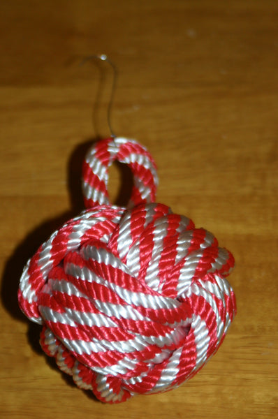 Knotted Christmas Ornament-Monkey Fist