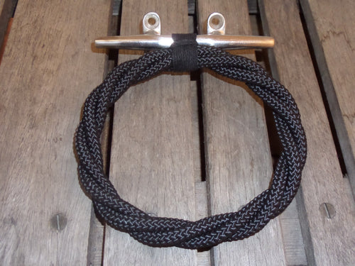 Black Rope Towel Ring Rack