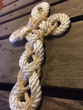 White with Khaki Knotted Cross