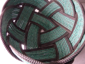 "15"" Green & Dark Brown Double accent Bowl - Alaska Rug Company"