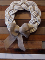 Rope Wreath Off White Cotton Rope 16""