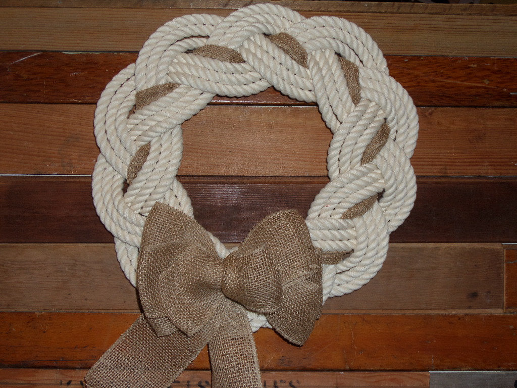 Rope Wreath Off White Cotton Rope 16