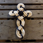 Woven Knotted Cross - New Cotton Rope
