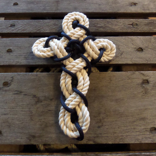 Woven Knotted Cross - New Cotton Rope - Alaska Rug Company