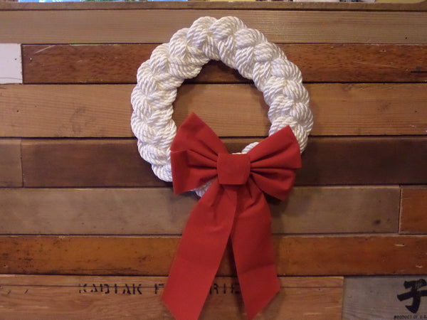 Rope Wreath White 12""