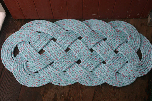Light Blue Rope Rug 35