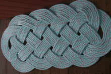 "Light Blue Rope Rug 35"" X 15""  Doormat - Alaska Rug Company"