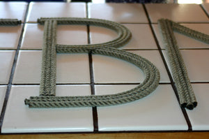 12 Inch Rope Letter / Number MADE TO ORDER - Alaska Rug Company