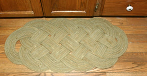 "Natural Tan Throw Rug 28"" x 12"" - Alaska Rug Company"