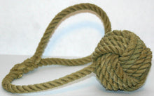 Monkey Fist Knotted Tie Back -Natural - Alaska Rug Company