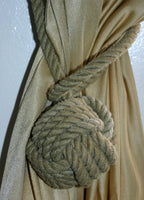 Monkey Fist Knotted Tie Back -Natural