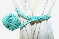 Knotted Monkey Fist Curtain Tie Back -Green