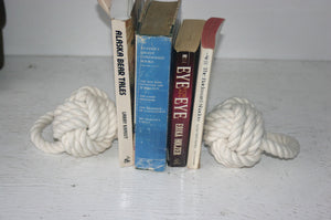 Monkey Fist Knotted Bookend or Doorstop -Cotton - Alaska Rug Company