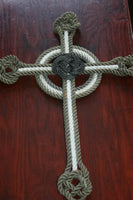 Knotted Cross 16 x 11""