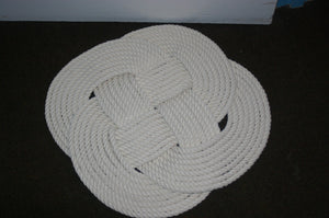 "Cotton Rope Bathmat 21"" diameter - Alaska Rug Company"