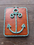 Rope Anchor Wall Hanging