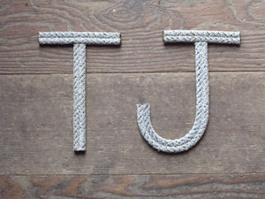 8 Inch Rope Letter / Number MADE TO ORDER - Alaska Rug Company