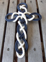 Woven Knotted Cross -New Rope
