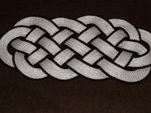 "White with Black Accent Rug  30 x 12"" - Alaska Rug Company"