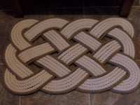 Cotton Bathmat with Gold Accent 29 x 14""