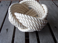 "7"" x 5 "" Bowl- Cotton Off white"