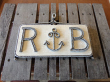 Anchor With Initials Wall Hanging - Alaska Rug Company