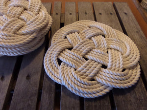 "14"" New Cotton  Rope Placemat Centerpiece - Alaska Rug Company"