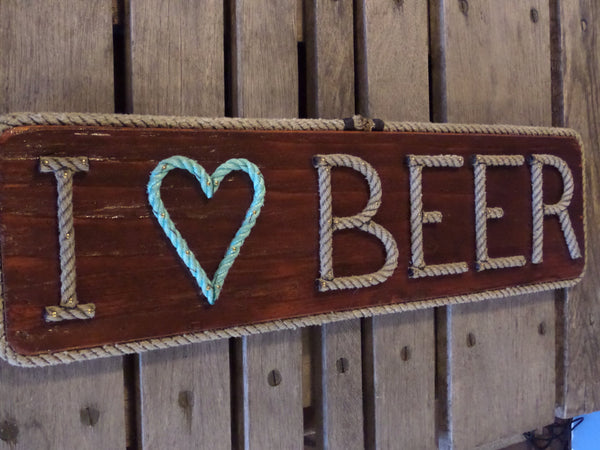 I heart BEER  sign